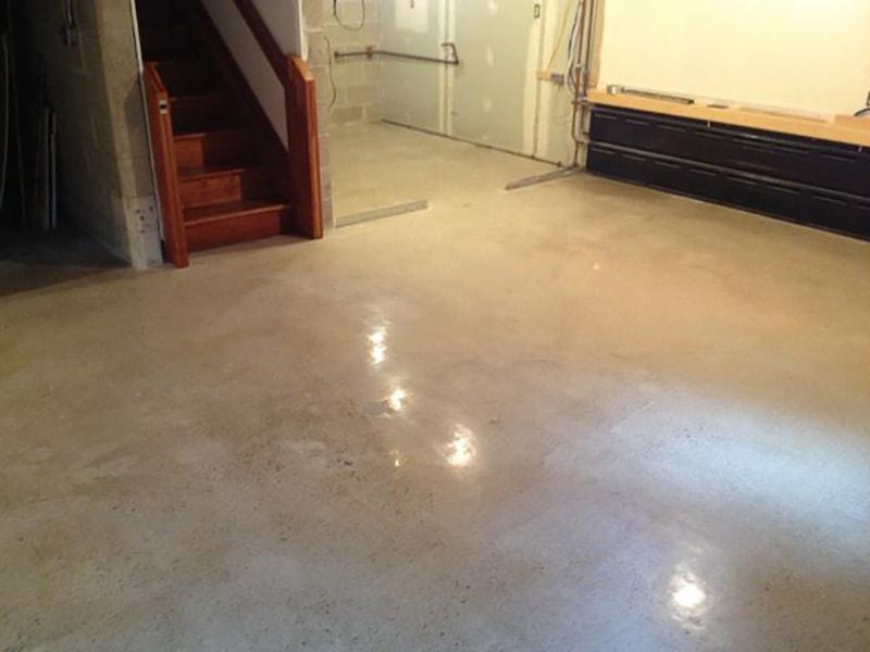 Concrete Flooring Sample : Polished concrete basement floor ridgefield elite