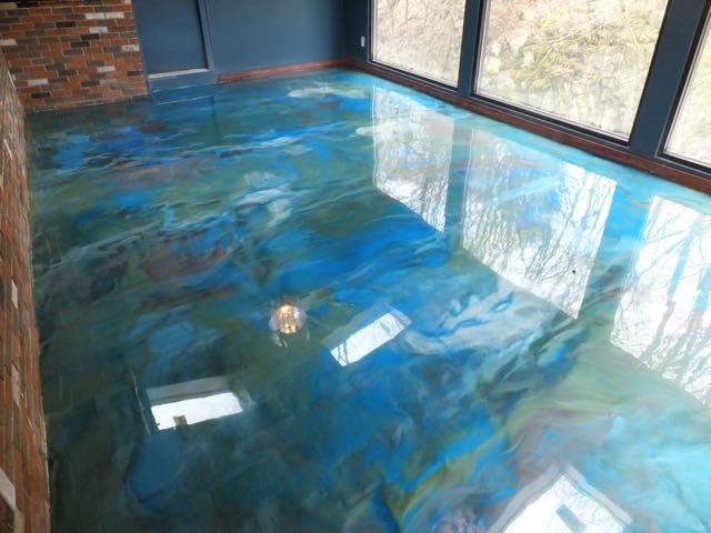 Metallic Effect Epoxy Floor Elmer S Waterfall Restaurant