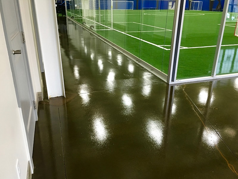 Acid Stained Polished Concrete Floor Mystic Indoor Sports