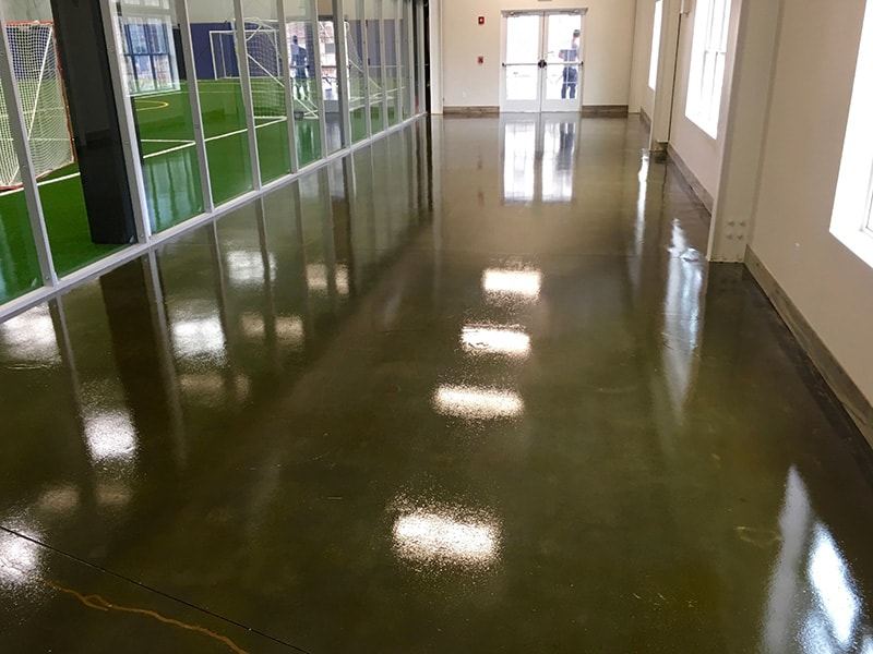 Acid Stained Polished Concrete Floor Mystic Indoor