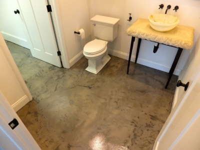 Polished Concrete Bathroom Floor
